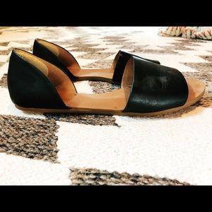 Madewell Black leather slides (size 9.5)